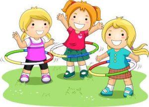 vaikai sportuoja