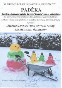 Rokiškio r. Juodupės lopšelio-darželio _Drugelių_ grupės ugdytiniams